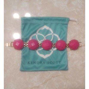 Kendra Scott Hot Magenta Pink Cassie Bracelet Rare